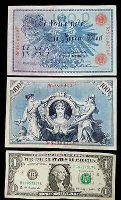 German 100 Mark Imperial Bank Note (VF) Dated 02.07.1908 K33a-557 NICE VF FS !!!
