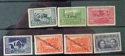 Albania. Seven early stamps