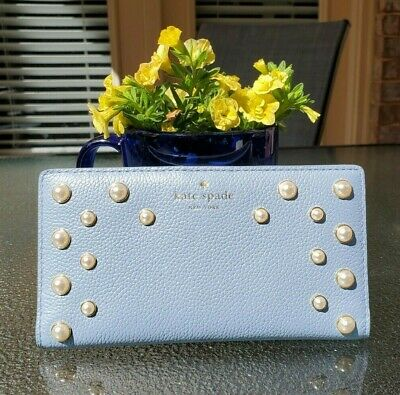 2d05578ee4b0 NWT KATE SPADE STACY SERRANO PLACE PEARL Medium Leather Wallet WLRU5202