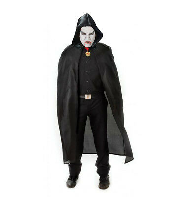 Mens Ladies Halloween Vampire Dracula Witch Black Cape Fancy Dress Costume Nylon