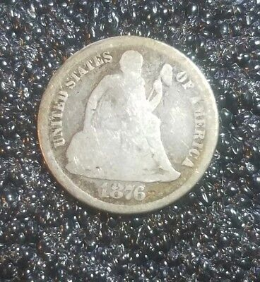 1876-S Liberty Seated Dime - SILVER