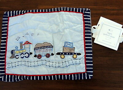 """Pottery Barn Baby Logan Hand Quilted Sham Small New 12 x 16"""" $29.50"""