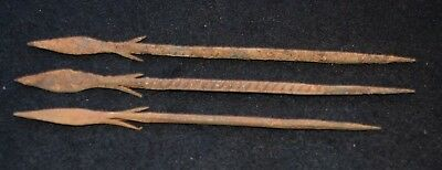 4 iron spear point, Bura culture 200 - 600 years old