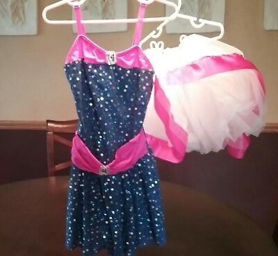 Figure Ice Skating Dance Dress Girls Size 5 6 7 Costume Gallery Child Interm.