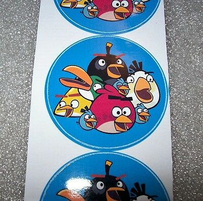 4 Sticker Angry Birds Magnetpin ca. 4,4 cm