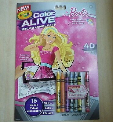 Crayola Color Alive Barbie 1 Ea 526 Picclick - Crayola-color-alive-barbie