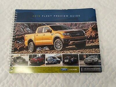 2019 Ford Fleet Preview Guide Vehicle Dealer Sales Catalog Brochure F150 New