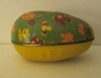 Vintage Tin metal Egg Candy Container