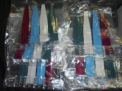 Lot of 6 Exam Room Flags 4 Colors  Red, Blue, Grey,Green