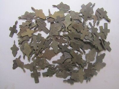 Metal detector finds.Mix lot  ancient crosses (The age of 18-19)100 pieces. N2