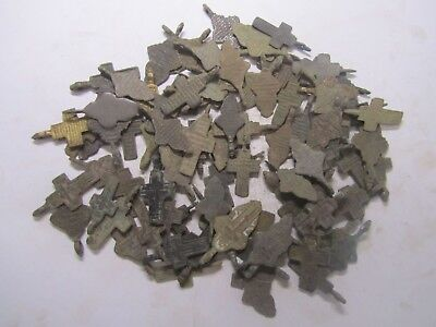 Metal detector finds.Mix lot  ancient crosses (The age of 18-19)100 pieces. N3