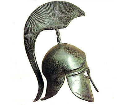 Spartan 100% Bronze Helmet ancient Greek Museum Replica Reproduction