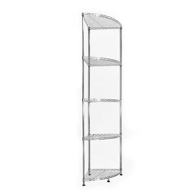 153x35x35cm Real Chrome Corner Wire Rack Metal Steel Kitchen Shelving Racks UKES