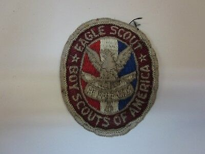 """BSA  ~ EAGLE SCOUT Boy Scouts of America 1 3/4"""" x 2"""" OLD Oval Boy Scout Patch"""
