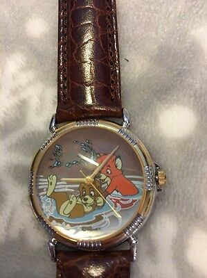 """Disney Fossil Collectors Club Limited Edition Watch Set Iii """"the Fox & The Hound"""