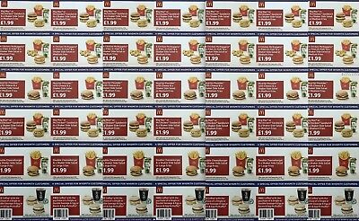 Mcdonalds Promotion 7 Strips Of 6 Vouchers Whsmith Valid Until 11Th November 18