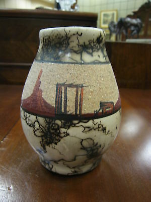 Navajo Vase w Marbleized Finish -Signed