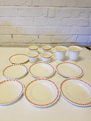 Vintage 13 Piece Set of Copeland Ivanhoe Cups, Saucers, Egg cups, & Bread Plates