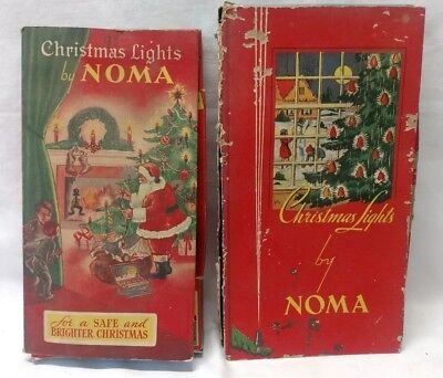 VINTAGE 1936 1939 NOMA CHRISTMAS TREE LIGHTS C6 Swirled Bulbs Beaded WORKS Set