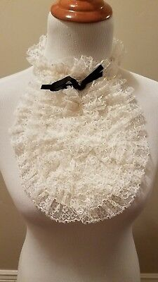 Ladies' Vintage White Lace Collar/Dicky tuxedo style