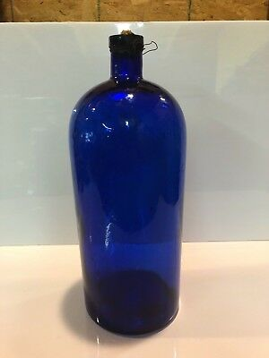 Enormous Jno Wyeth & Bro Philadelphia Cobalt Apothecary Pharmacy Medicine Bottle