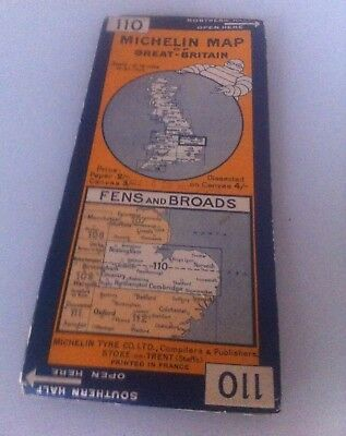 GUIDE Carte 110 MICHELIN Map Ancien Great Britain Fens and Broads Angleterre