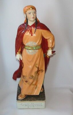 Old Chinese Porcelain Statue Jingdezhen Figurine China Taiping Women Warrior