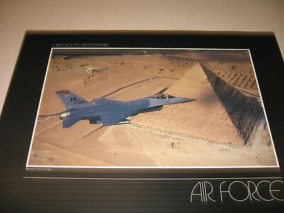 F-16A flying over the Great pyramids Fighting Falcon USAF