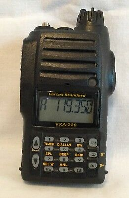 Vertex Standard VXA-220 Air Band Transceiver Handheld Aviation Radio