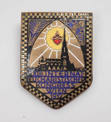 1912 Anstecknadel Brosche 13. Internationaler Eucharistischer Kongress Wien