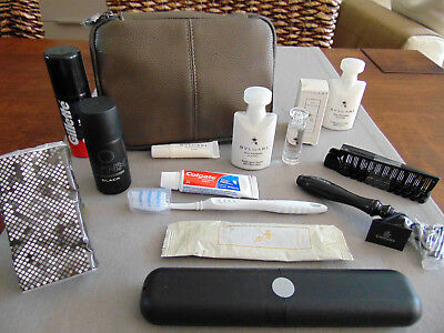 EMIRATES First Class Gent's BVLGARI Amenity Kit Trousse Neceser Kulturbeutel