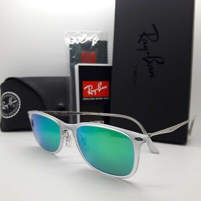 fc452a9f5af NEW Rayban sunglasses Lightray RB4225 646 3R 52 Transparent Green Mirr  AUTHENTIC