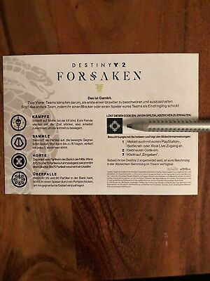 Destiny 2 Forsaken Gambit Emblem PS4/XBOX/PC Delivered Per Mail