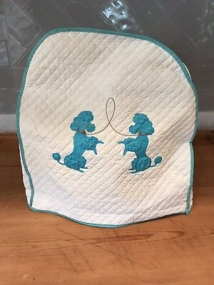 1950's Vintage Poodle Kitchen Kitchen-aid Mixer Food Quilted Cover
