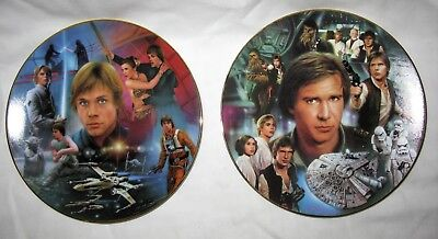 Luke Skywalker & Han Solo Hamilton Collection Star Wars Limited Edition Plates