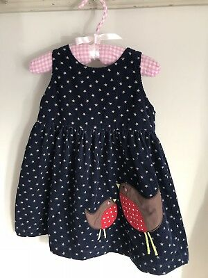 Baby Boden Robin Xmas Dress 6-12 Months