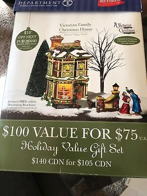 Dept 56 Victorian Family Christmas House Dickens Village Series 1997  Retired (4