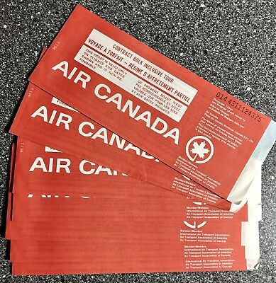 Air Canada Ticket Stock