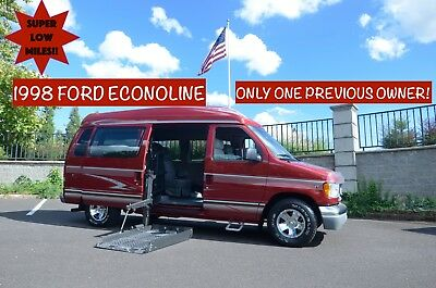1998 Ford E-Series Van Conversion Van 1998 Ford Econoline E-150 Wheelchair Accessible High Top Van with 66,377 Miles