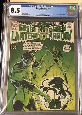 Green Lantern #76 Cgc 8.5 1St Green Arrow In Title Dc Comics