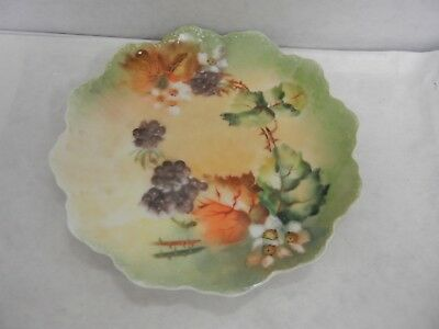 Antique Rosenthal Plate Bavaria , Hand Painted Mint