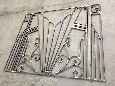 Art Deco Wrought Iron Wall Panel.