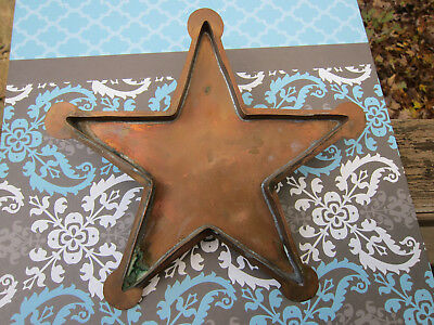 Large Vintage 9 INCH Solid Copper STAR Cookie Cutter With Handle