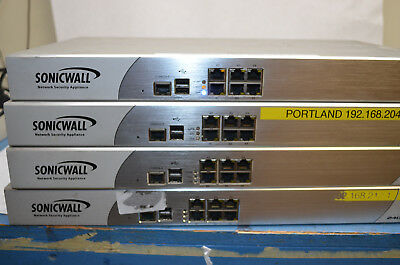 Lot of 4 SonicWall NSA 2400 Network Security Appliance Model: 1RK14-084