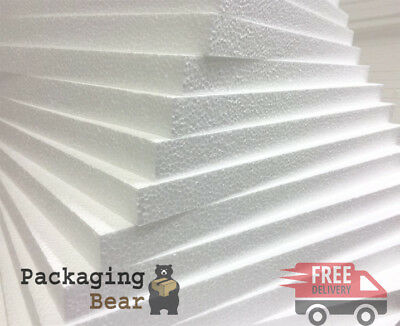 12 x 600x400x10mm EXPANDED POLYSTYRENE EPS70 FOAM PACKING INSULATION SHEETS