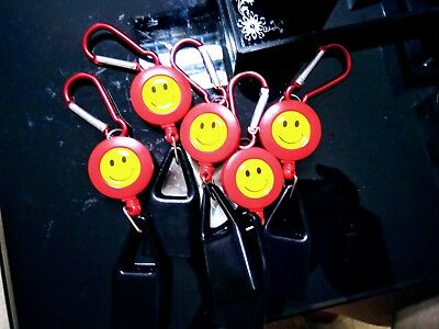 10x Red Universal LIGHTER LEASH KEYCHAIN CLIP RETRACTABLE a F01