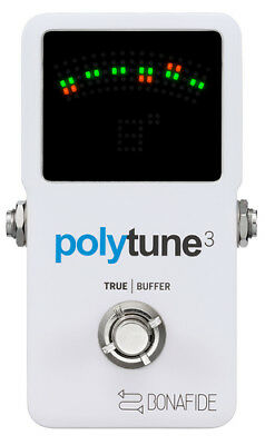 TC Electronic Polytune 3 Polyphonic LED Guitar Tuner Pedal W/buffer 2day Ship