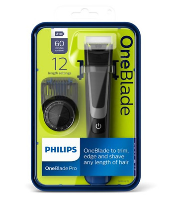 Philips OneBlade Pro Trimmer Styler Shaver Comb Wet Dry QP6510