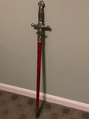 """35"""" SWORD Medieval Knight Warrior's Lord of the Rings Sword w/ Scab"""