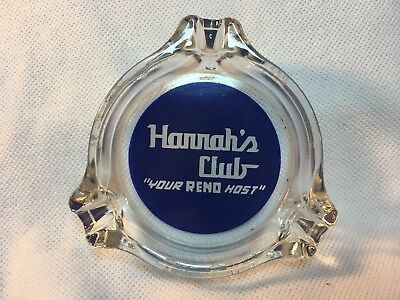 "Harrah's Casino, Reno Nv, Vintage Ashtray, 3"" Round 1950's"